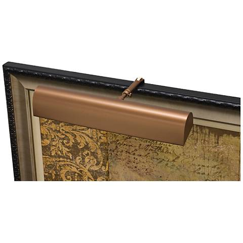 """House of Troy Traditional 14"""" Wide Bronze LED Picture Light"""