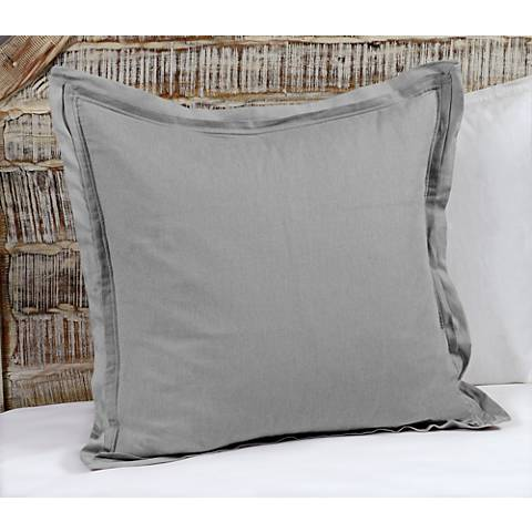 Harlow Gray Fabric Pillow Sham