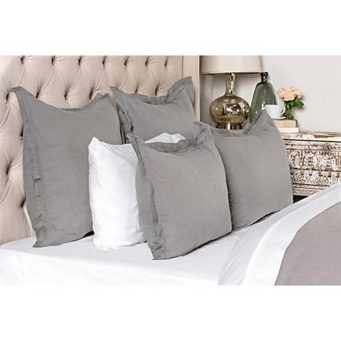 Harlow Gray Fabric Duvet