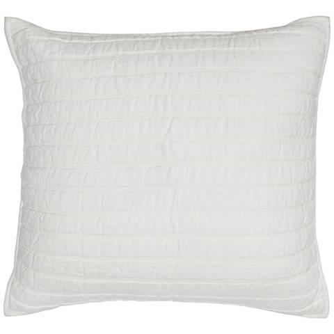 Harlow Ivory Stripe Linen Pillow Sham