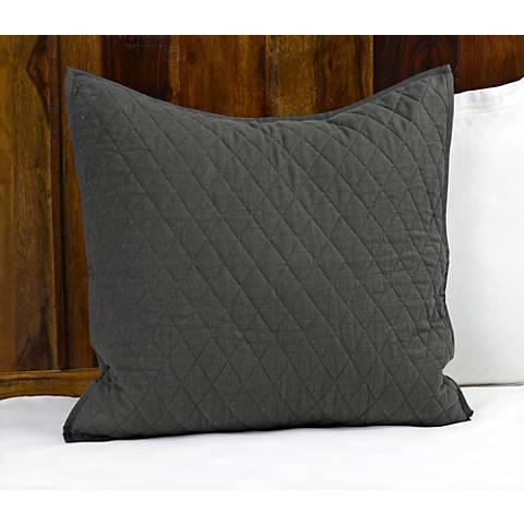 Lana Charcoal Diamond Cotton Pillow Sham