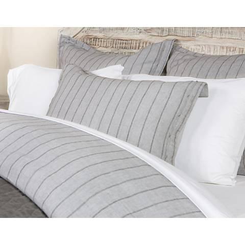 Monaco Gray Fabric King Duvet