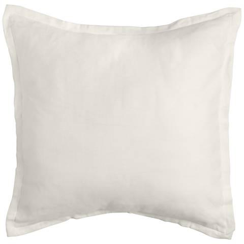 Tessa Ivory Fabric Pillow Sham