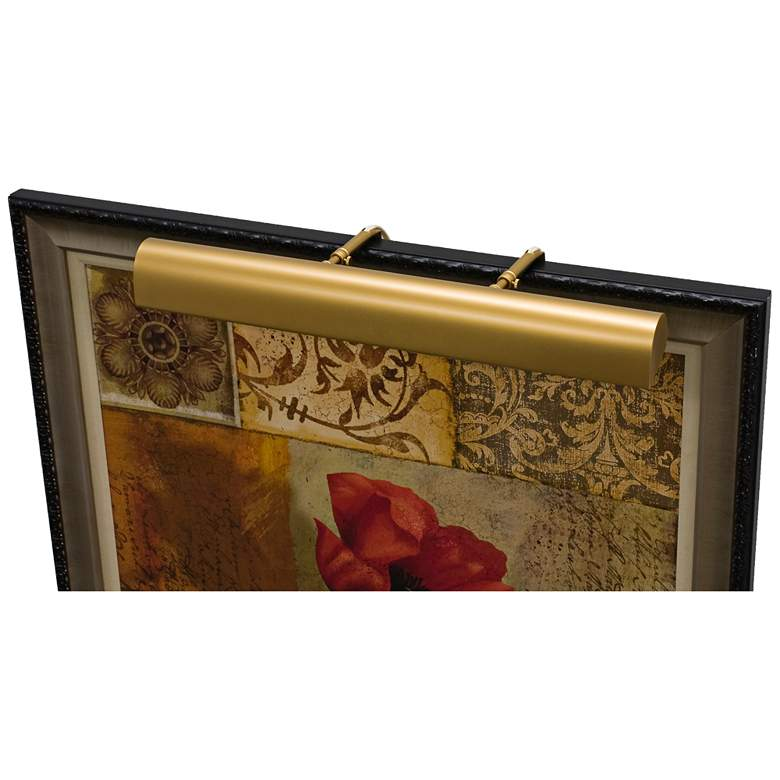 """House of Troy Traditional 21"""" Wide Gold Picture Light"""