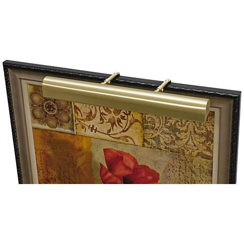 """House of Troy Traditional 21"""" Wide Satin Brass Picture Light"""