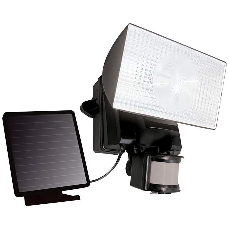 Black Solar Security 50 LED Outdoor Flood Light