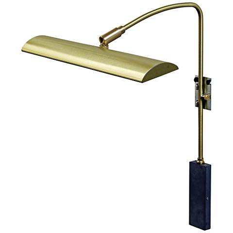 """House of Troy Zenith 12"""" Wide Satin Brass LED Picture Light"""