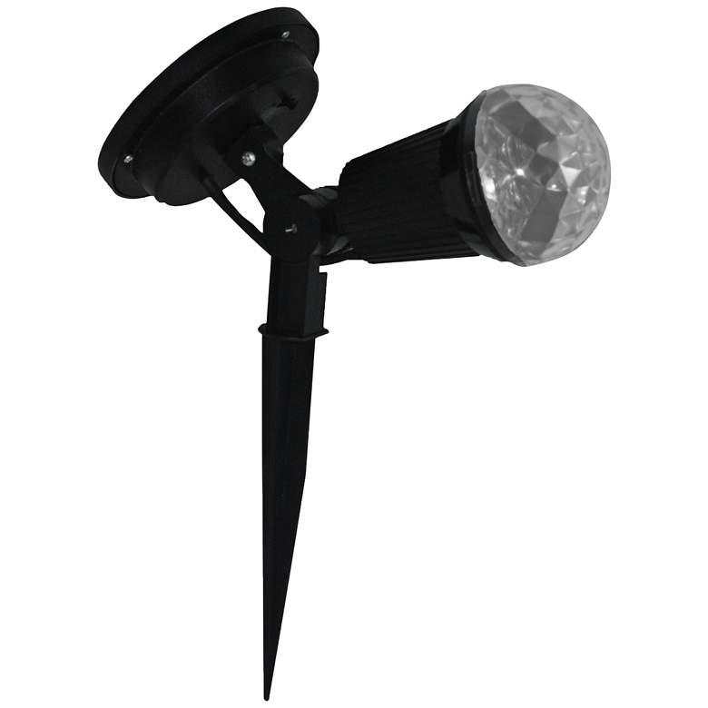 "Black 12"" High Solar Powered LED Swirl Scope"