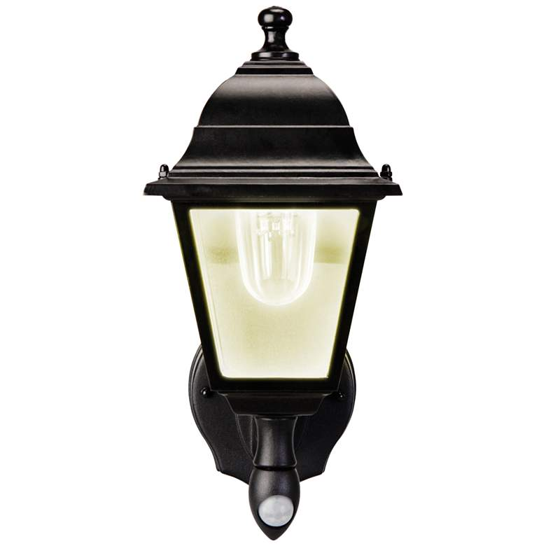 """Black 12"""" High Warm White Battery LED Outdoor Wall Light"""