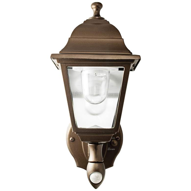 """Bronze 12"""" High Battery LED Outdoor Wall Light"""