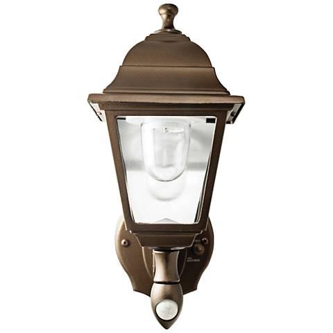 """Bronze 6"""" High Battery LED Outdoor Wall Light"""