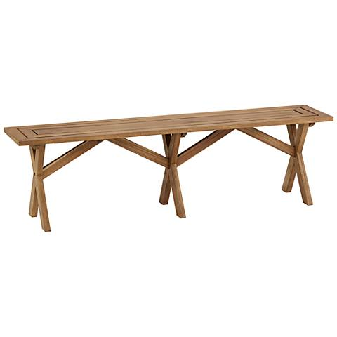 "Nantucket 60"" Wide Natural Wood Outdoor Picnic Bench"