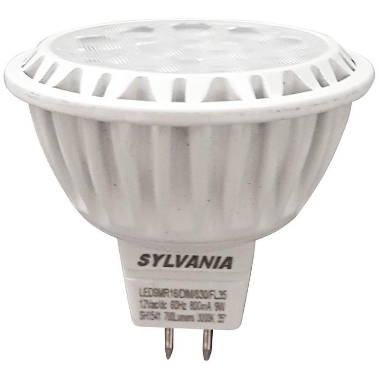 50W Equivalent Sylvania Frosted 9W LED Dimmable GU5.3