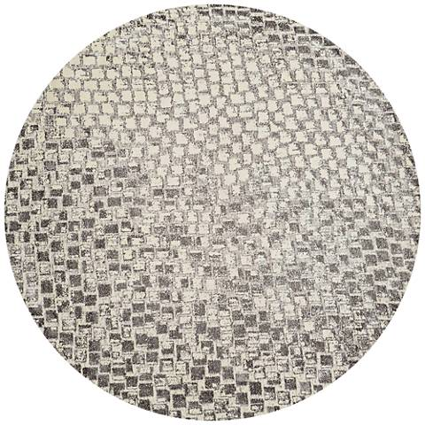 Nourison Twilight TWI08 8'x8' Round Cream Area Rug