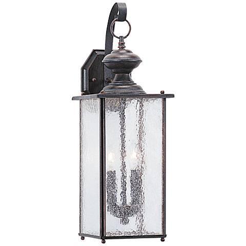 """Jamestowne 20 1/4""""H Patina 2-Light LED Outdoor Wall Light"""