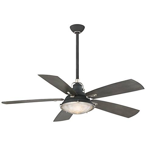 "56"" Minka Aire Groton Sand Black Outdoor Ceiling Fan"