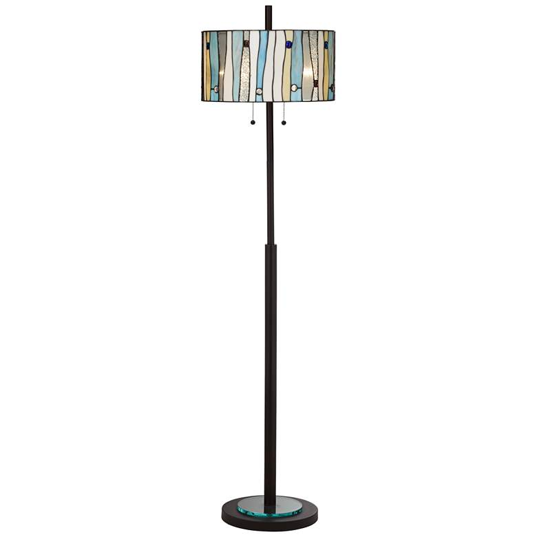 Appalachian Spirit Tiffany Style Glass Floor Lamp