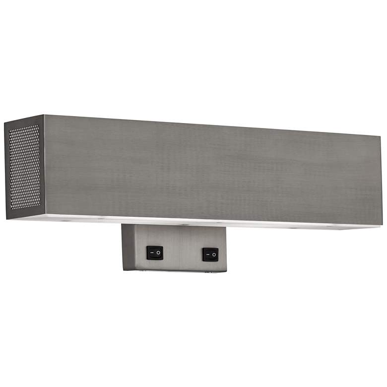 22X56 - Satin brushed smoke aluminium Headboard Sconce