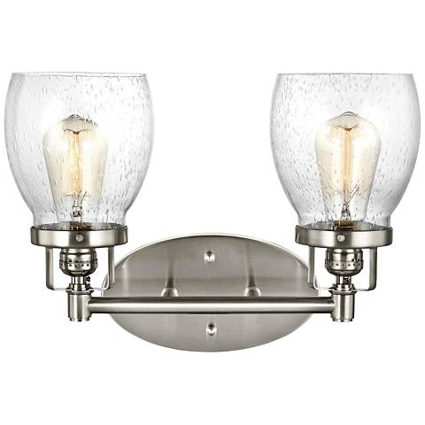 "Belton 10 3/4"" High Brushed Nickel 2-Light Wall Sconce"
