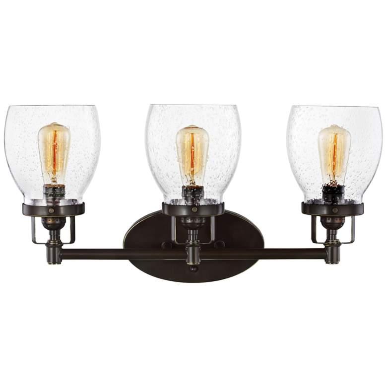 "Belton 21"" Wide Heirloom Bronze 3-Light Bath Light"