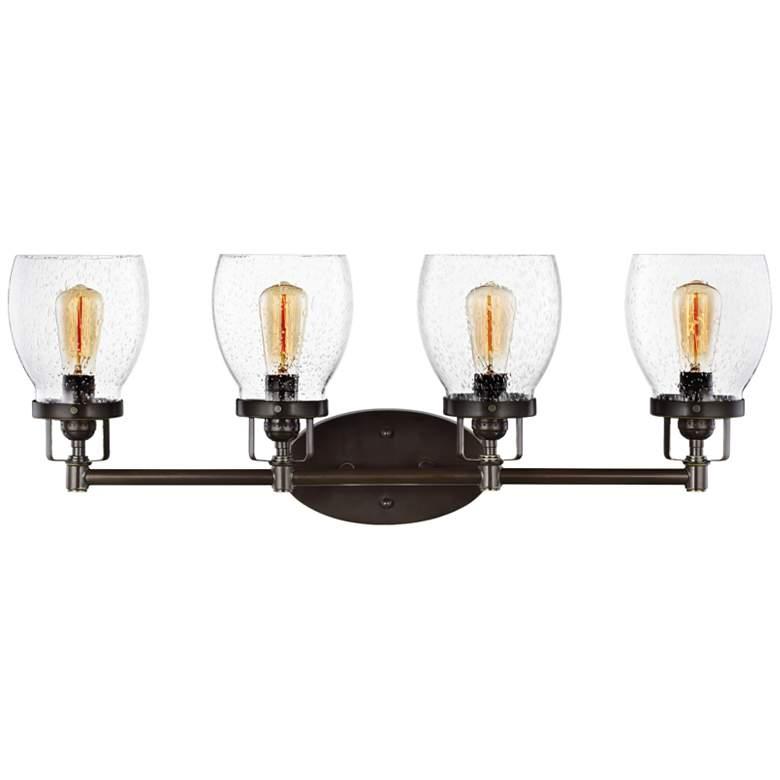 "Belton 28 3/4"" Wide Heirloom Bronze 4-Light Bath Light"