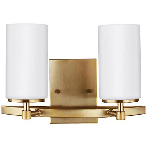Alturas High Satin Bronze Light Wall Sconce Y Lamps Plus - 2 light bathroom sconce