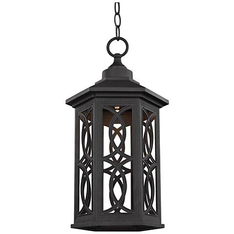 "Ormsby 16 1/2"" High Black LED Outdoor Hanging Light"