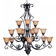 """Symphony Collection 51"""" High 15 Light Large Chandelier"""