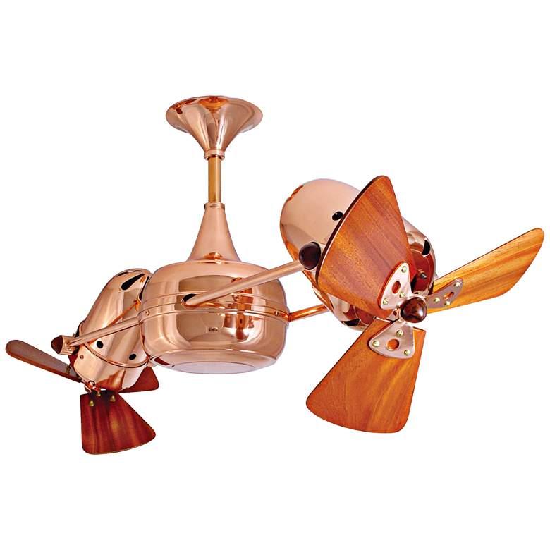 """36"""" Matthews Duplo Dinamico Dual-Head Copper Ceiling Fan"""