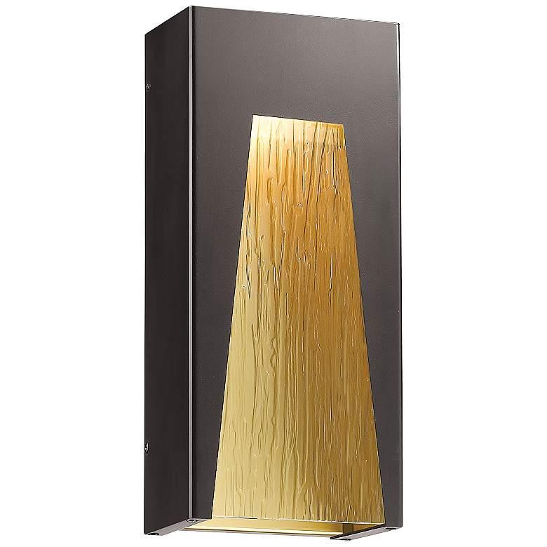 "Millenial 18""H Bronze Chisel Glass LED Outdoor Wall Light"