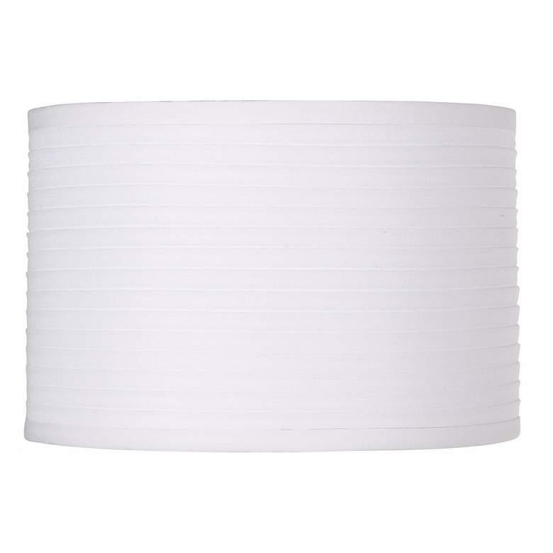 White Horizontal Pleat Drum Small Shade 11x11x7.5 (Spider)