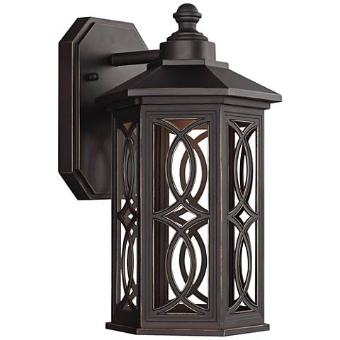 "Ormsby 12 1/4""H Antique Bronze LED Outdoor Wall Light"