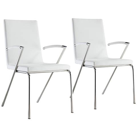 Anderson White Faux Leather Dining Chair Set of 2