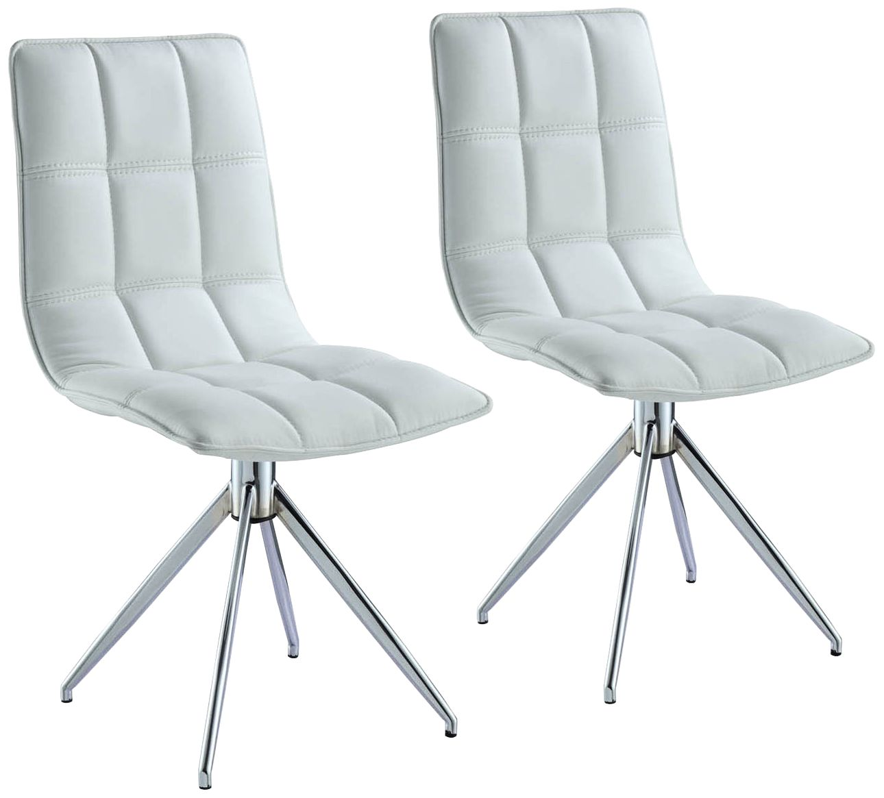 Apollo White Faux Leather Swivel Dining Chair Set of 2  sc 1 st  L&s Plus & Apollo White Faux Leather Swivel Dining Chair Set of 2 - #23A38 ...