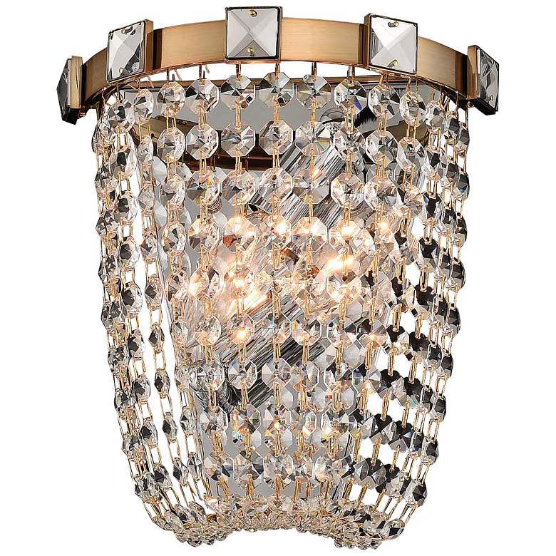 """Allegri Impero 9""""H Champagne Gold Wall Sconce"""