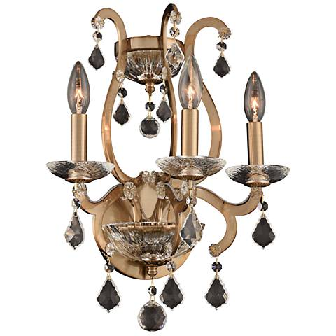 "Allegri Duchess 19""H Champagne Gold 3-Light Wall Sconce"