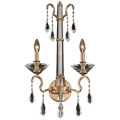"Allegri Valencia 25"" High Champagne Gold 2-Light Wall Sconce"