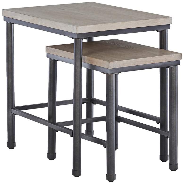 "Shoal Creek 22"" High Light Gray Ash Nesting Table Set"