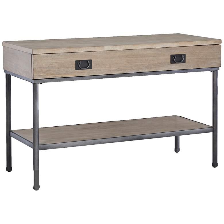 "Klaussner Shoal Creek 48"" Wide Light Gray Ash Sofa Table"