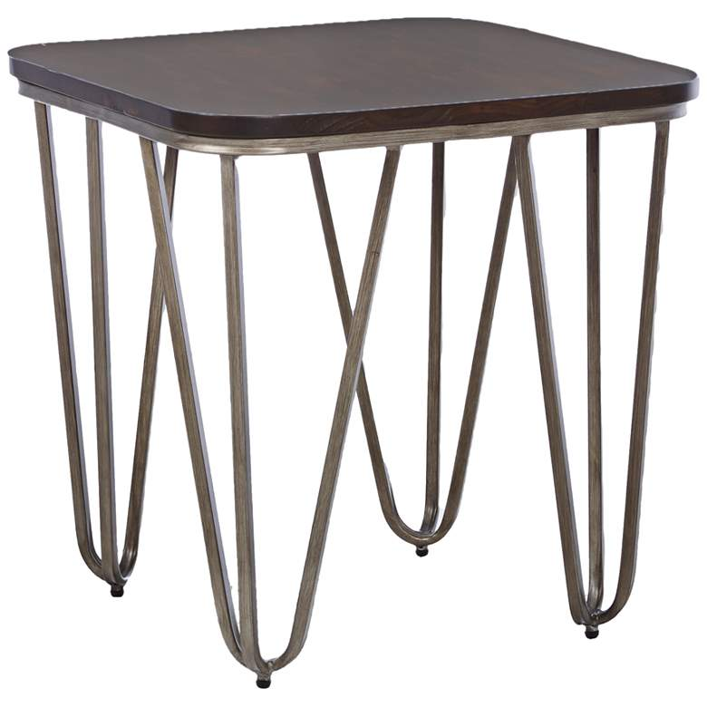 "Klaussner Dawson 24"" Square Tobacco Finish Modern End Table"