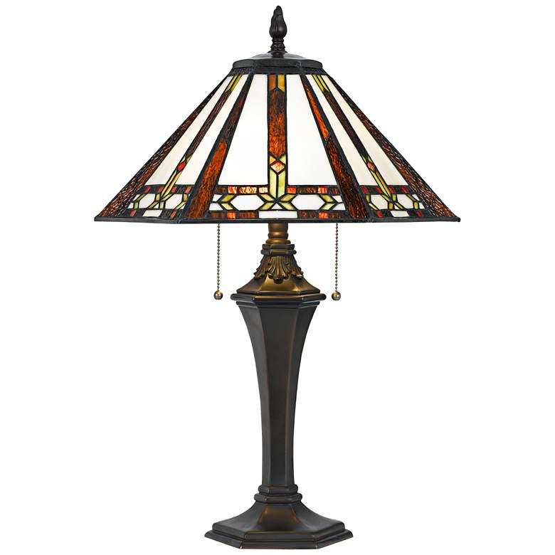 Autumn Tiffany Stained Glass Table Lamp