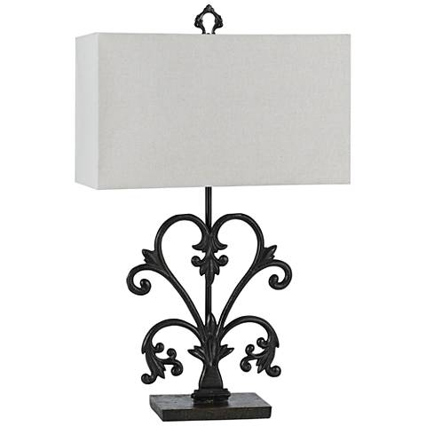 Murcia Blacksmith Metal Table Lamp