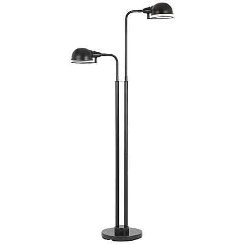 Paxton Dark Bronze Twin Light LED Floor Lamp