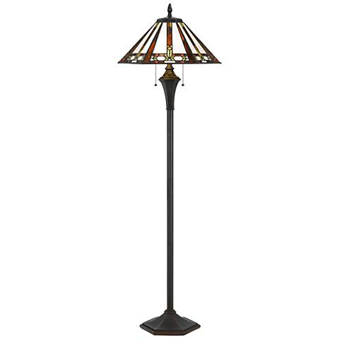 Autumn Tiffany Stained Gl Floor Lamp