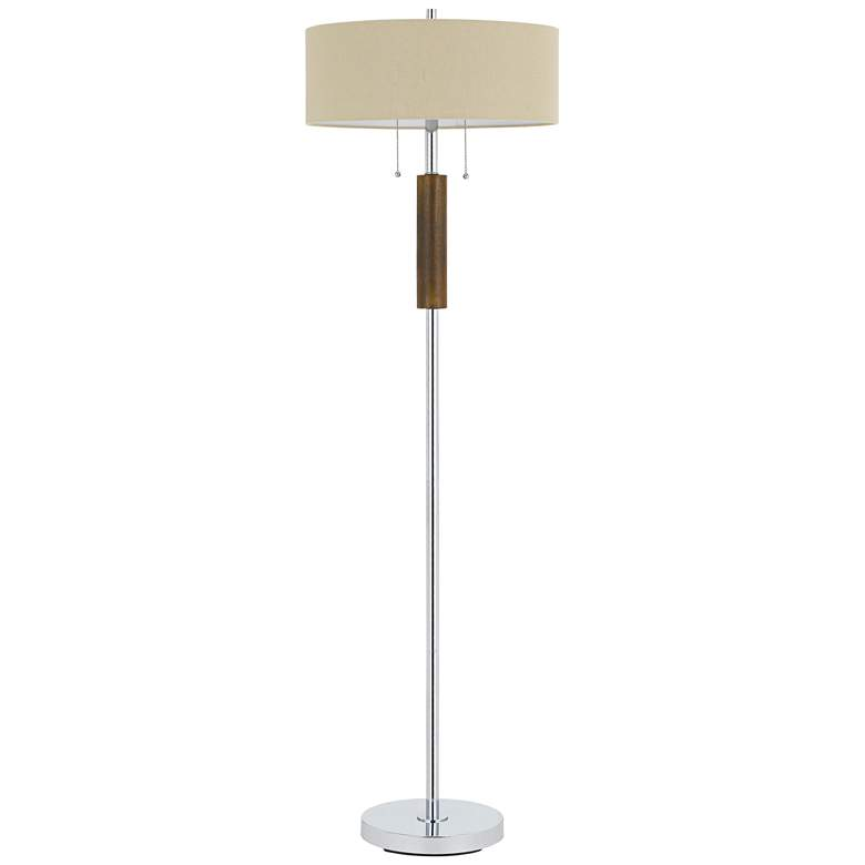 Bari Chrome Metal 2-Light Floor Lamp