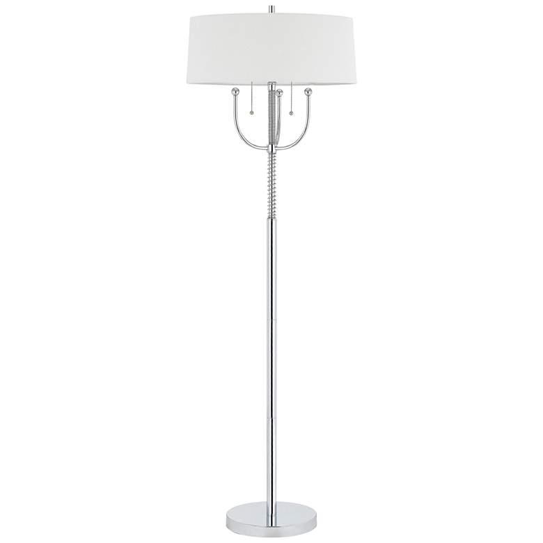 Lesina Chrome Metal 2-Light Floor Lamp