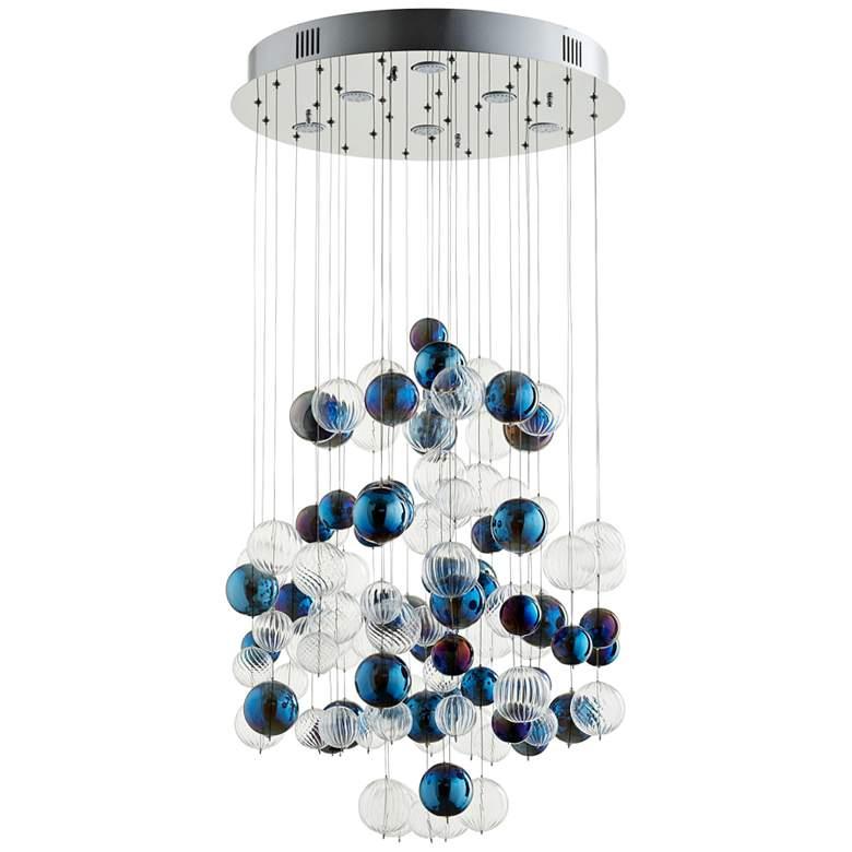 "Cyan Design Champagne Circus 24"" Wide Chrome Pendant Light"