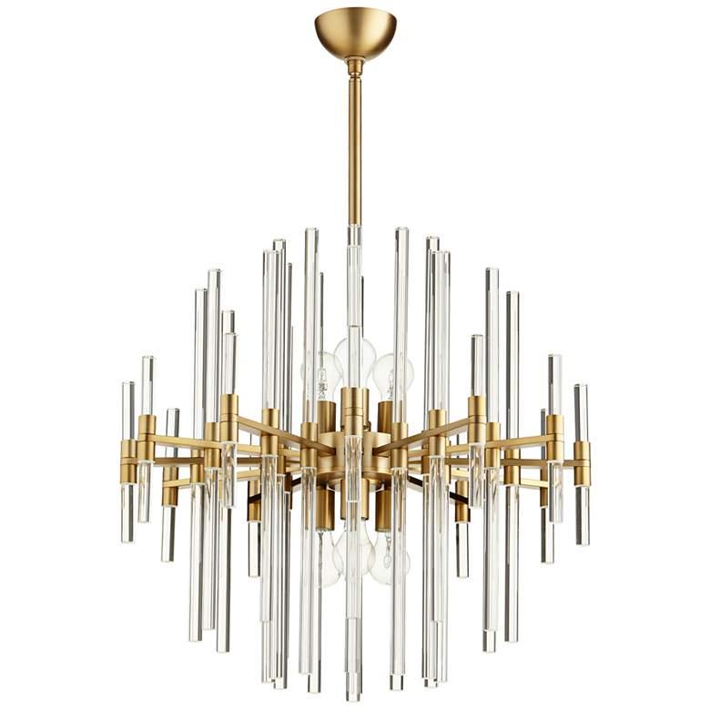 """Cyan Design Quebec 26 1/4"""" Wide Aged Brass 6-Light Pendant"""
