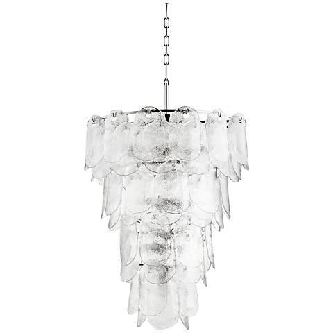 "Cyan Design Cascata 27"" Wide Polished Nickel Pendant Light"