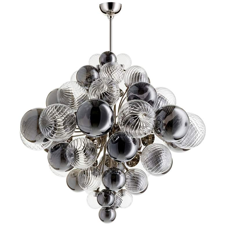 "Valence 33 3/4"" Wide Polished Nickel 25-Light Pendant"